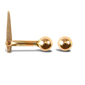 9ct Yellow Gold Ball Hinged Nose Stud