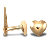 9ct Yellow Gold Heart Hinged Nose Stud