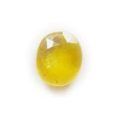 55Carat 5.8 Ratti 5.25 Ct Oval Shape Natural Yellow Sapphire Pukhraj Loose Gemstone For Ring & Pendant