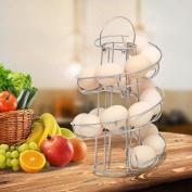 Tinxs Spiral Eggs Holder 18 Eggs Twist Storage Kitchen Stand Metal