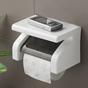 Funnytoday Amazing Durable Bathroom Accessories Stainless Steel Toilet Paper Holder Tissue Holder Roll Paper Holder Box