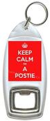 Keep Calm I'm A Postie - Bottle Opener Keyring