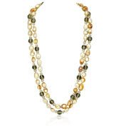 Women's Champagne Pearl And Endless Necklace 120cm