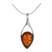 COGNAC BALTIC AMBER STERLING SILVER 925 PENDANT. KAB-267A