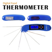 ZZSY probe instant read food and meat thermometer, (2aaa batteries) speech function suitable for cooking, barbecue