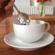 Funnytoday Sugar Skull Tea Spoon Suck Stainless Coffee Spoon Dessert Spoon Ice Cream Candy Tea Spoon Tableware