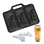 Funnytoday Party Drink Ice Tray Cool Pistol Gun Ice Cube Style Ice Mould Ice Maker Mould Ptsp