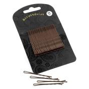 Thirty pieces brown colour 5cm hair grip set.