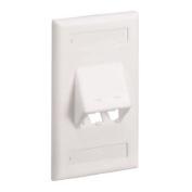 Panduit CFPSL2WHY 1-Gang 2-Port Faceplate, White