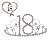 Crystal / Diamante 18th Birthday Tiara and 18th Birthday Brooch / 18th Gift