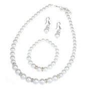 Ukamshop(TM)New Fashion Women Imitation Pearl Necklace Bracelet Earrings Set Jewerly