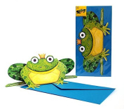 Pop Up Cards Animals/Funny 3 D-Faltkarte/POSTCARD Frogs