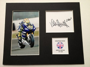 LIMITED EDITION VALENTINO ROSSI SIGNED DISPLAY PRINTED AUTOGRAPH MOTO GP AUTOGRAPH AUTOGRAF AUTOGRAM SIGNIERT SIGNATURE MOUNT FRAME