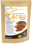 Raw Organic Cacao Powder (500g)   Highest Quality Available   Certified Organic by the Soil Association   By MySuperfoods