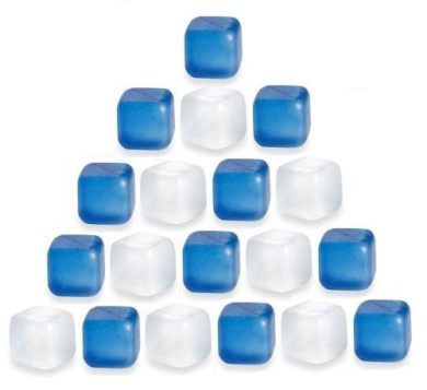 36PC REUSABLE PLASTIC ICE CUBES FREEZER COLD DRINK TRAY BAR PARTY COOLER FUN NEW