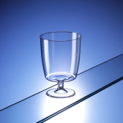 One piece disposable plastic wine glasses (200ml) - pack of 50. Ideal for bbqs, special events, camping and picnics.