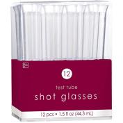 Amscan 44.3 ml Test Tube Shot Glasses, Clear