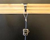 4 Pack STAS Moulding Hooks + Perlon Cords with Loop + Zipper Hooks