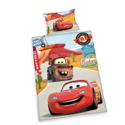 Herding Disney's Cars 2629060063 Bedding Set Pillow Case 40 x 60 cm and Duvet Cover 100 x 135 cm Flannel Flannellette
