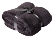 Viva XL Soft Microfibre Cover, 150 x 200 cm, Available in Various Colours black