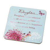 Wishing Well Daughter Words of Endearment Sentimental Coaster