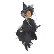 Witches of Pendle - Agatha Witch Flying (Black) 24cm