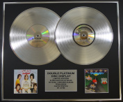 BAY CITY ROLLERS/DOUBLE CD PLATINUM DISC RECORD DISPLAY/LTD EDITION/COA/ROLLIN' & ONCE UPON A STAR