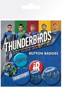 "GB Eye ""Thunderbirds Are Go, International Rescue"" Badge Pack, Multi-Colour"