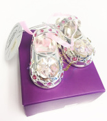Lesser and Pavey - Little Treats Silver Plated Crystal Baby Shoes