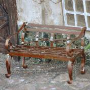 Miniature Fairy Garden Mini Garden Bench, Rustic