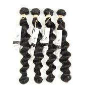 Allrun Hair Soft Brazilian Loose Wave Virgin Hair 4 bundles 25cm - 60cm Remy Human Hair Loose Wave 100% Mink Brazilian Hair Weave Bundles 20 22 24 24