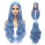 Women's 80cm Cosplay Wig Long Wavy Heat Resistant Synthetic Wig