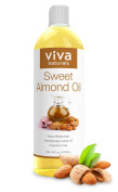 Viva Naturals Sweet Almond Oil 470ml, 100% Pure and Hexane Free, Ideal for Skin and Hair