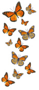 Monarch Butterfly Temporary Tattoos - 5 Sheets