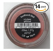 (PACK OF 14) Bare Minerals / Bare Escentuals RICHES (42757) Blush Makeup. Gold Infused! WARM EARTH PINK. Ideal for ALL Skin Types.