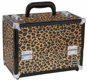 Caboodles Make Me Over 4 Tray Train Case, Cheetah, 1.6kg