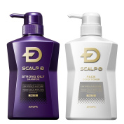 Set of 2 Scalp D Medical Hairgrowth Shampoos for Men 2016 (Strong oily skin type) (350ml)