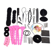 20Pcs Women's Hair Style Tool Set Hairpin Hair Clip Comb Band Curlers U-clips