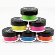 6pc GlitterWarehouse Loose Bright & Bold Neon Matte Cosmetic Glitter