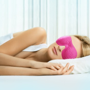 Sleep Mask Luxury Embossed Red or Pink for Women Drift to Sleep Contoured & Comfortable US Patented Eye Mask Ideal for Students, Shift Work ,Travel, Yoga and Meditation Enjoy Restful Sleep NOW!