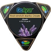 GoAyur Ayurvedic Post Stretch Marks Cream- 180ml Herbal Stretch Marks Removal & Natural Body Moisturising Cream, 100% Herbal Actives, Natural Fragrance