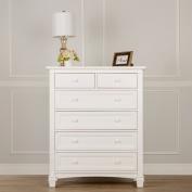 Evolur Fairbanks 6 Drawers Dresser, Winter White