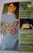 Sequin Art Butterfly Kit