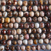 H0994 6mm Australian Zebra Jasper Ball Loose Beads 15""