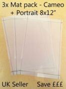 A4 Value cutting mat x3 Pack! suitable for Silhouette Cameo Carrier sheets