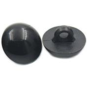 "Fujiyuan Black 50 Sets Plastic Safety Solid Eyes for Bear Doll Animal Puppet Craft Black 30mm 1.18"""
