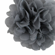 DooXoo 25cm Tissue Paper Pom-poms Flower Ball Wedding Party Outdoor Decoration Grey Set of 10