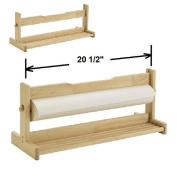 Tabletop Holder for Paper Roll Art & Craft Drawing Painting for Art Shop Packing Facility Roll Wooden Crossbar Stand