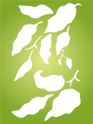 """Leaves Stencil - (size 4.5""""w x 7.5""""h) Reusable Wall Stencils for Painting - Best Quality Wall Art Décor Ideas - Use on Walls, Floors, Fabrics, Glass, Wood, Terracotta, and More…"""