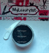 Black Mica Loose Powder 30ml MyLuxury1st Pigment Jar Cosmetic Spoon Craft Shimmer Pigment